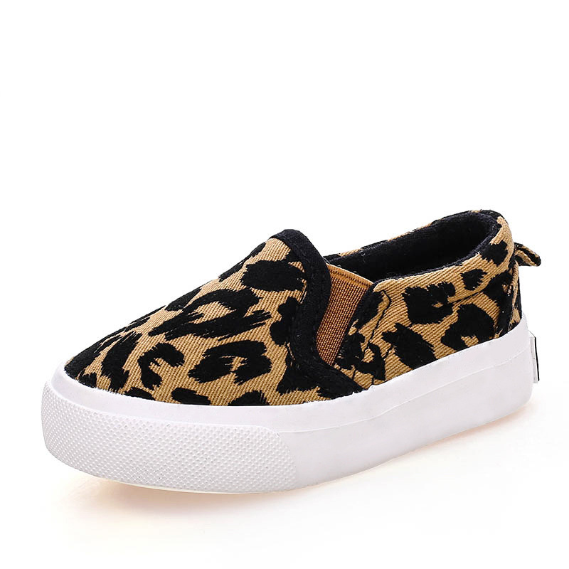 2017 Spring Children Shoes Girls Boys Casual Shoes Fashion Leopard Print Comfortable Canvas Shoes Kids Sneakers Slip On Loafers 2018 new genuine leather kids shoes boys mocassins fashion soft children shoes for boys girls casual flat slip on loafers