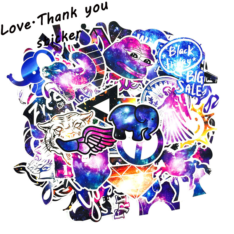 50pcs Mixed Galaxy Sticker Stars Dream Anime Cartoon Stickers for DIY Luggage Laptop Skateboard Car Motorcycle Bicycle Stickers