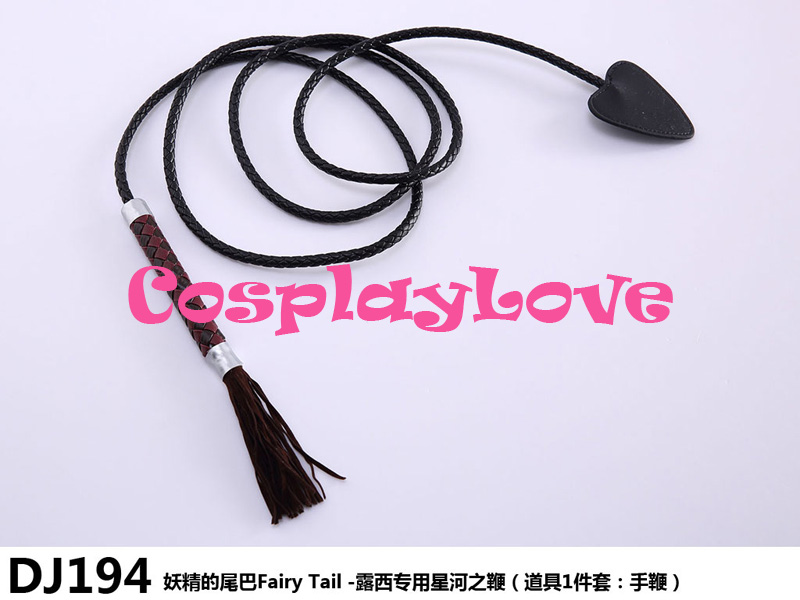 High Quality Stock Japansk Anime Fairy Tail Lucy Heartfilia Læder Star Whip Cosplay Tilbehør Cosplay Våben