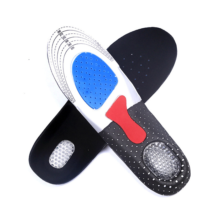 Free Size Unisex Orthotic Arch Support Shoe Pad Sport Running Gel Insoles Insert Cushion for Men 002 unisex silicone insole orthotic arch support sport shoes pad free size plantillas gel insoles insert cushion for men women xd 01