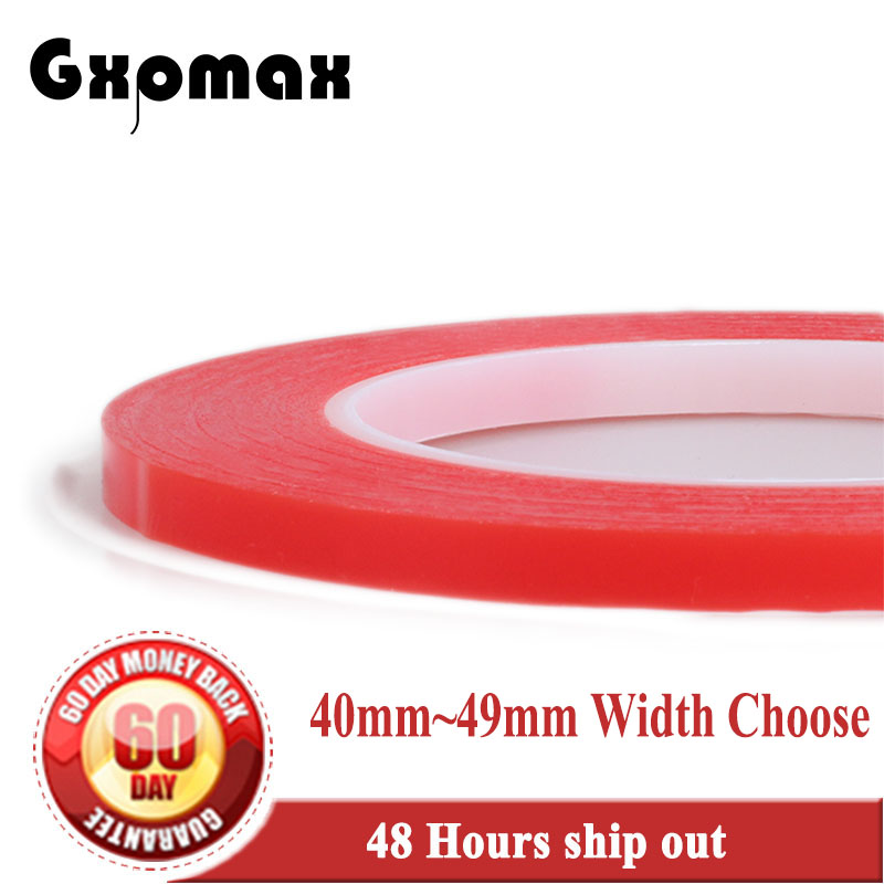 (0.2mm Thick) (40mm~49mm Wide Choose) Super Strong Two Sides Adhesive Tape No Trace for Display Panel Lens Battery все цены