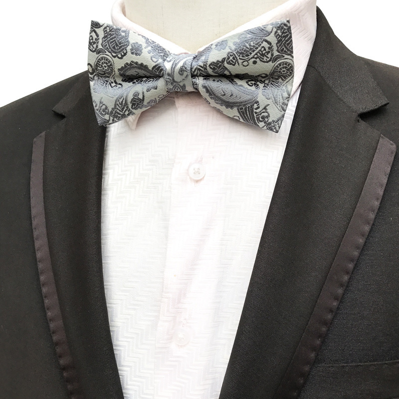 2018 Fashion Bow Tie for Man 14 Colors Paisley Cashew Pattern Self Tie Bow Ties British Style Wedding Party Shirts Bowtie in Men 39 s Ties amp Handkerchiefs from Apparel Accessories