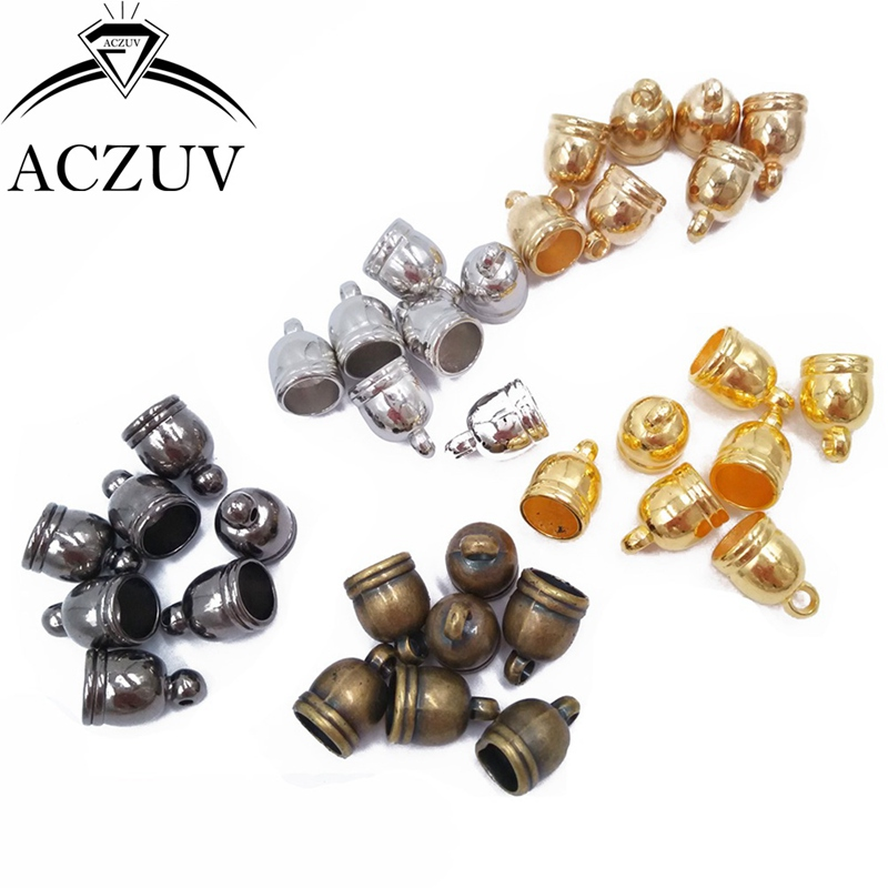 1000piece 10x14mm Rope Buckle Cord Ends Beads CCB Tassel Caps Jewelry Findings Accessories CEB001