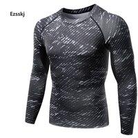 Men Sports Pro Underwear Compression BaseLayer Print Tops Long Sleeve Stretch Elasticity Apparel Shirts Basketball T