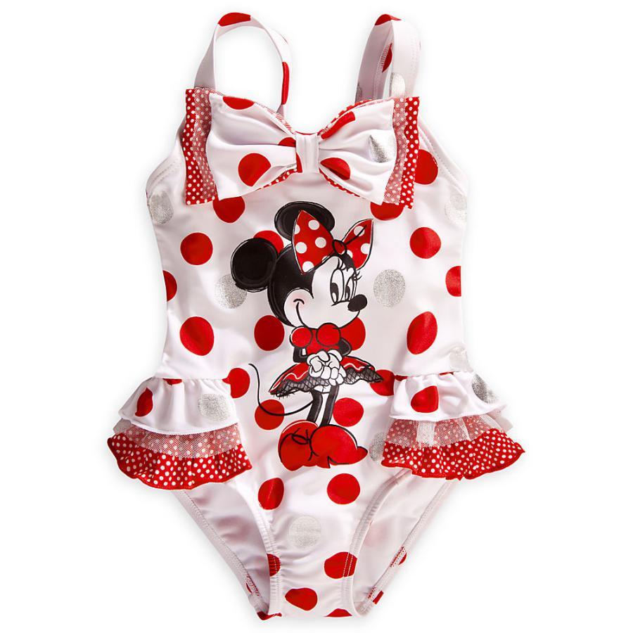 retail baby girls swimsuit summer beach wear for baby one piece original brand minnie mouse wimwear UF retail baby girls