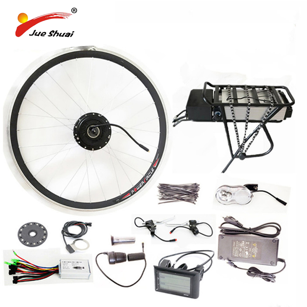 20 26 700C 28 48V10AH Lithium Battery Electric Bicycle Kit Front Wheel Motor 350W 500W Power