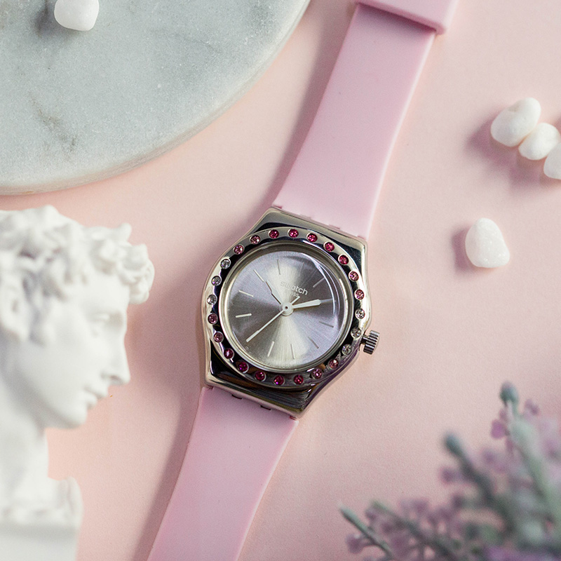 Swatch watch The Lady series fashionable and elegant quartz watch YSS313 цена и фото