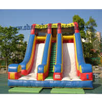 Hot sale product double lane inflatable land slide for adults and kids/ new design inflatable slide