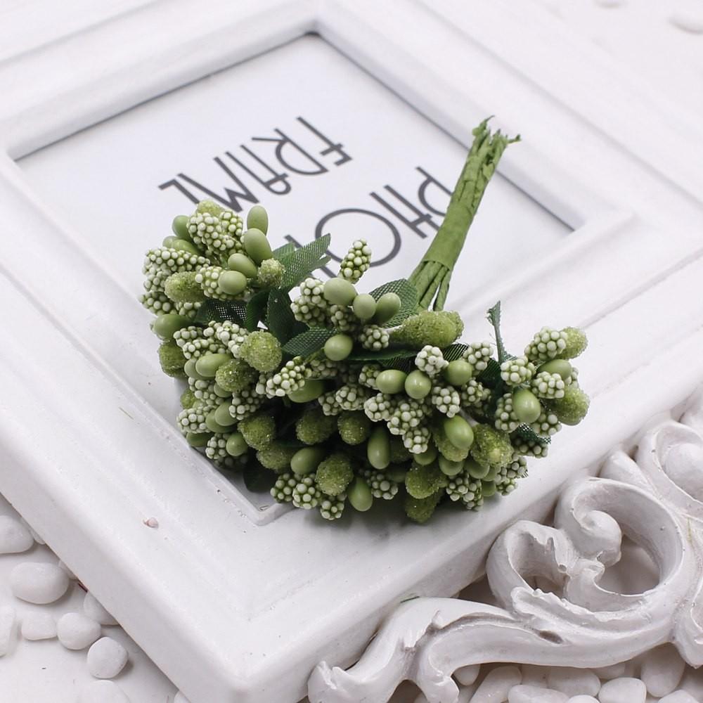 16 12pcs Berry Artificial Stamen Handmade Flower For Wedding Home Decoration Pistil DIY Scrapbooking Garland Craft Fake Flower 9