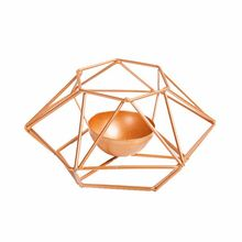 Modern Wrought Iron Geometric Candle Holder Gold Candlestick Tea Light Crafts for Home Party Wedding Decor Ornaments retro iron candlestick lantern tea light holder home shop ornaments