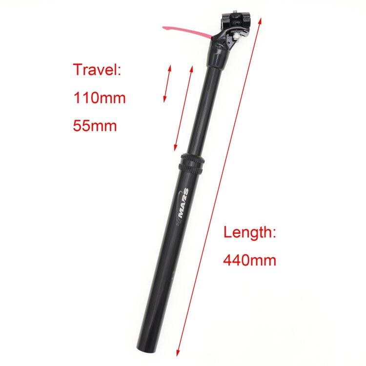 125mm Travel New KS KindShock Eten-I Dropper Seatpost w//Remote 30.9 //440mm