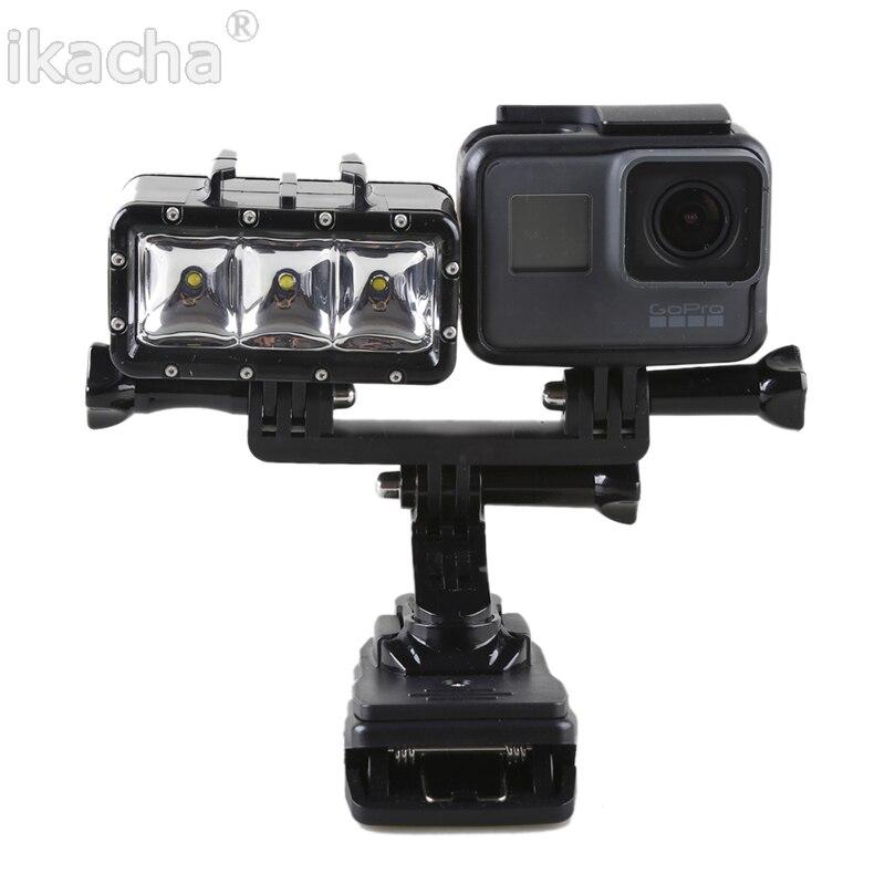 ФОТО New LED Fill Light Underwater 30m Diving Flash Light+Handheld Selfie Monopod Diving Underwater Mount For Xiaomi Yi SJ4000