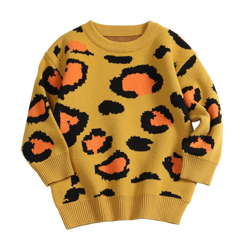24M to 6 years baby & kids girls long sleeve knitted leopard print pullover sweaters children fashion fall winter sweater tops24M to 6 years baby & kids girls long sleeve knitted leopard print pullover sweaters children fashion fall winter sweater tops