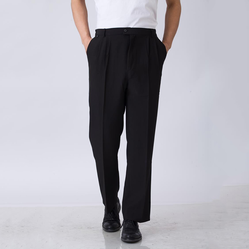 Elastic Waiter Trousers Men Chef Pants High Quality Waist Chef Working Pants Hotel Restaurant Black Work Wear