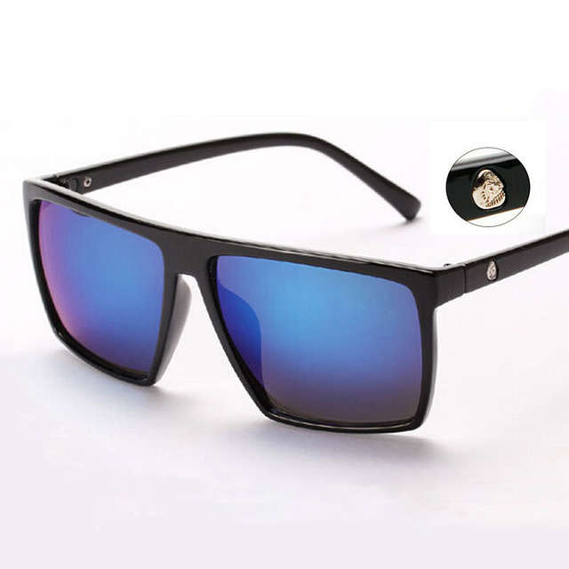 b0cc9d89bd7 placeholder Brand retro Steampunk frame SKULL Square male Sunglasses Men All  Black oversized big sun Glasses for