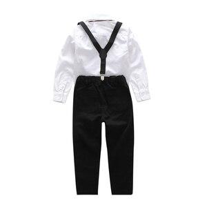 Image 4 - Erkek Gömlek 2018 çocuk Üst Giyim Unisex Gömlek % 100% Pamuk Düz Çocuklar Uzun Kollu Geometrik Boys Kız Gömlek 100 160cm