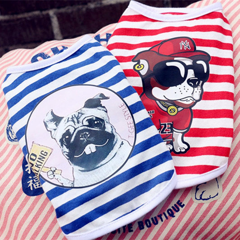 Hip Hop 2019 New Dog Summer Vest Cotton Pet Clothes For Small Dogs Chihuahua Clothing For Puppy Outfits Breathable Teddy T Shirt in Dog Vests from Home Garden
