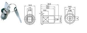 Image 3 - 20Pcs 12mm Mini Key Switch ON/OFF Lock Switch KS 02 KS02 Electronic Switch 3A 250V