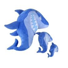 10cm Baby Blue Shark Plush Toy Three Kinds of Size Stuffed Animals Cute Girls Kids Soft Pillow Kawaii Big Mouth Sharks Gifts