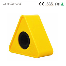 Linhuipad Triangular Interview Mic Microphone customize LOGO Flag Station Stick Lables 41mm Hole ABS Injection Molding