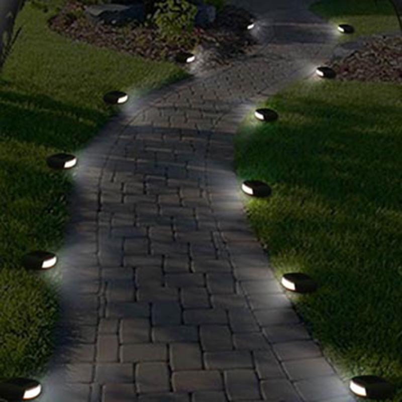 Solar Stone Light Garden Fence Path Simulation Stone Lights