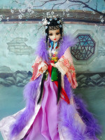 32CM Handmade Ancient Chinese Dolls With Super White Skin And Stand Limited BJD 1 6 12