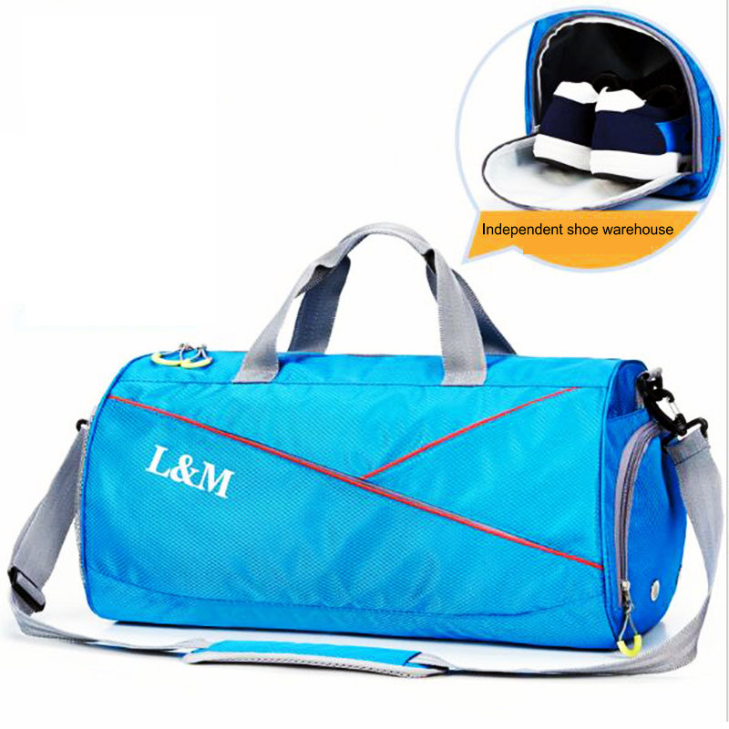2017 New Swimming sports bags men women gym bags crossbody bag large capacity basketball training handbag single shoulder bag