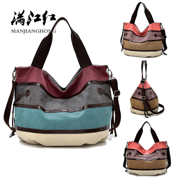 Canvas Women Handbags Colorful Messenger Shoulder Bags For Women Large Ladies Crossbody Tote Bag