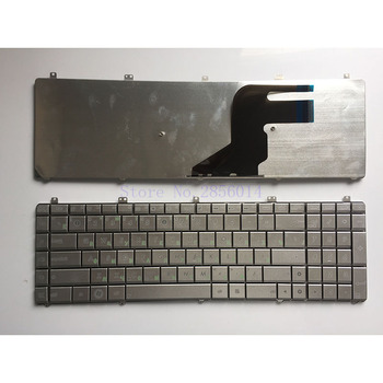 Nowy rosyjski klawiatura do asus N55 N55S N55SL N55SF RU klawiatura laptopa srebrny