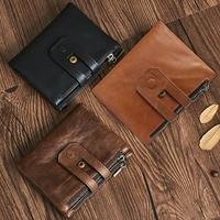 JOYIR Brand Genuine Leather Wallet Male Coin Purse Men Walet Small Zipper&Hasp Male Portomonee Famous Purse Carteira For Rfid