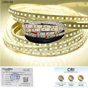 Image 2 - 1m 2m חדש CRI 90 + 2835 DC 12V 24V LED רצועות אור לבן זמין PCB רוחב 8mm חינם באמצעות כלכלת דואר אוויר