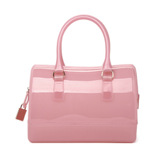 Designer Candy Color font b Handbag b font Lock Ornament Women Cute Pillow shaped Hand Bag