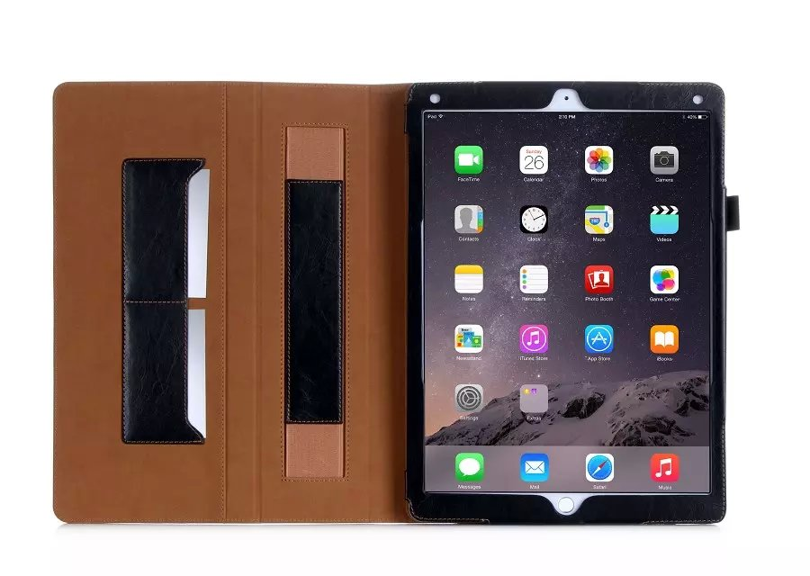 Luxury Ultra Slim Hit Color Wallet Leather Card Slot Stand Holder Pouch Bag Cover Sleeve Case For Apple Ipad Pro 12.9inch Tablet luxury cross pattern book cover card slot folio stand pu leather magnetic smart sleep case for apple ipad pro 12 9 inch tablet