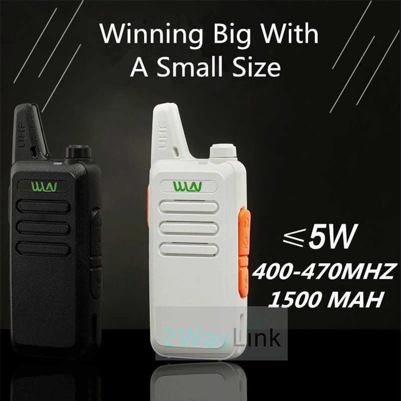 Radio Mini WLN KD-C1, 2 uds., 5W, Radio bidireccional UHF, RT22 ZT-X6, versión mejorada, 5W, Ham Radio KD-C2