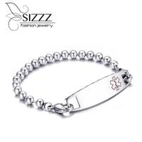 2016 New Women Medical Alert Bracelet High Quality Stainless Steel Bracelet Bracelets For Women