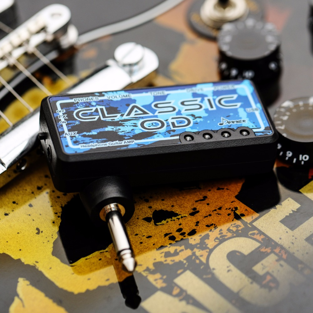 Donner Classic Od Guitar Headphone Amp Pocket Rechargeable Mini Circuit Practice Amplifier In Electric Instrument Parts Accessories From Sports Entertainment On