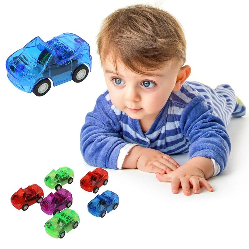 1pc Mini Children Pull Back Plastic Car Wheels Toy Model Kids Play Vehicle Toy