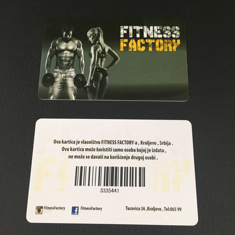 800pcs custom barcode business card 85 5 54mm 0 76mm plastic pvc two sides card to