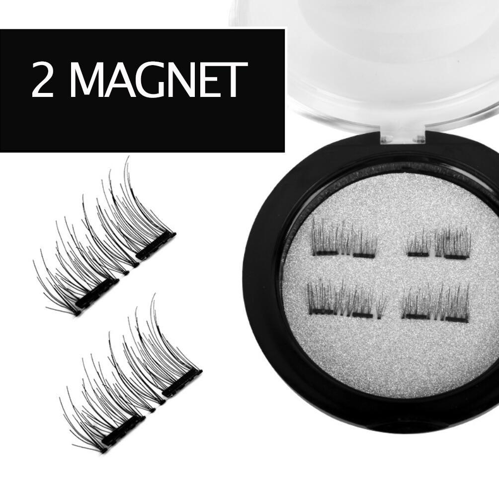 3 Magnet Eyelashes 3D Mink Nature Magnetic False Eyelash Extension Faux Fake Lashes Ciglia Long Thick Makeup Lash With Tweezer
