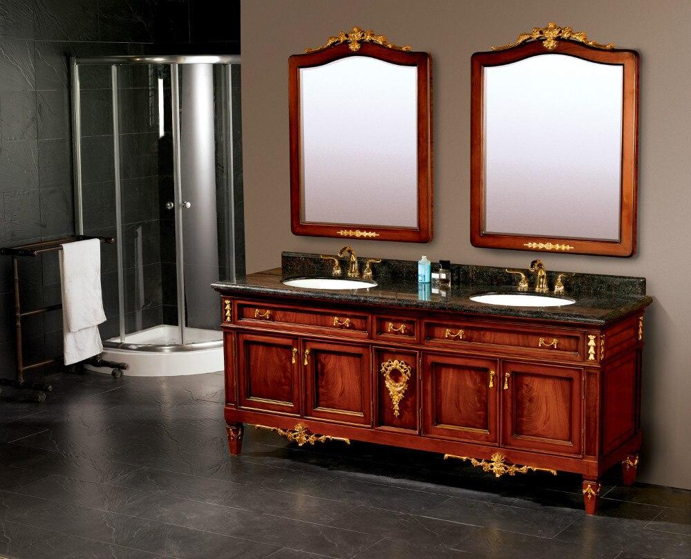 Wood bathroom cabinet - 100 Solid Cherry Wood Bathroom Vanity Cabinet For Hotel
