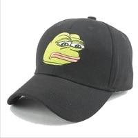 Fashion Hot Sale Men Snapback Baseball Caps Women Sad Frog Cattoon Pattern Embroidery Sun-shade Black Sunhat Hip Hop Hats