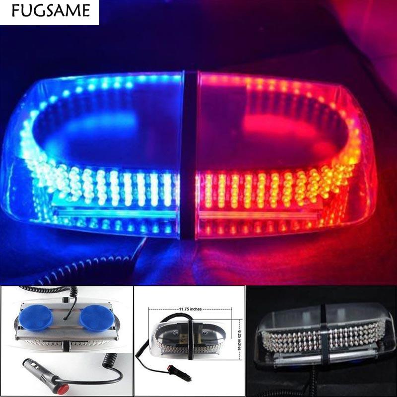 FUGSAME 240 Led Super power Red Blue Amber EMS Strobe light 20W 12V Car Roof   Emergency Warning flashing lights with Magnetic