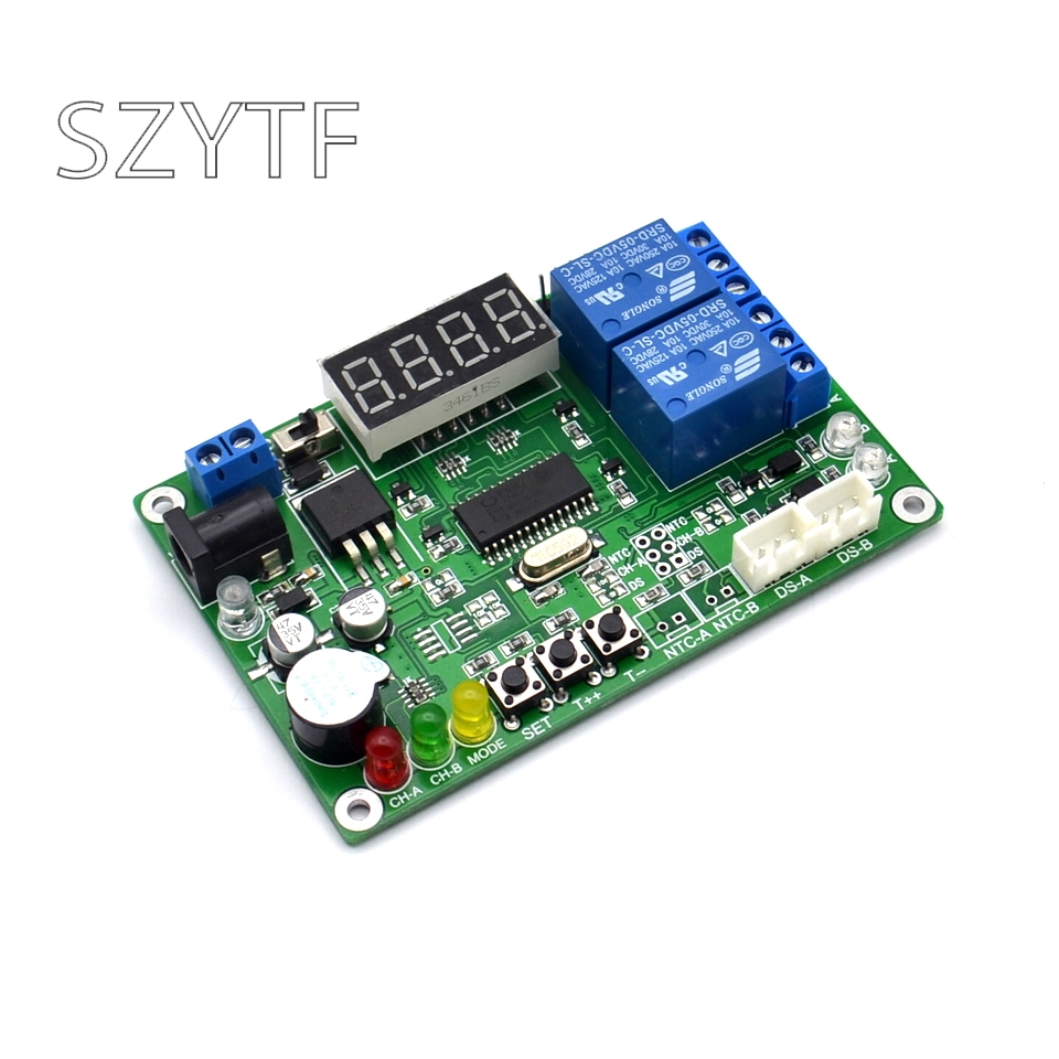 Image 2 - High precision digital display temperature sensor intelligent temperature controller temperature difference meter-in Sensors from Electronic Components & Supplies