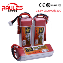 ZOP Power Lithium Li-polymer Lipo Battery 14.8 V 2800 Mah 30C Connector for RC helicopter Qudcopter car plane Battery Lipo