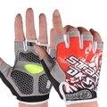 Тонкий срез росы относится к дышащая защита от солнца перчатки спорт на открытом воздухе без скольжения фитнес полу-палец перчатки