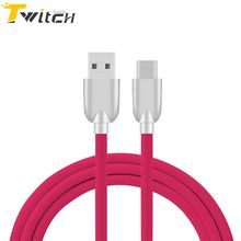 Twitch Original Zinc Alloy Type-C Cable Fast Charging Mobile Phone Charger Cable Data Sync USB-C Cable for Xiaomi Huawei LG