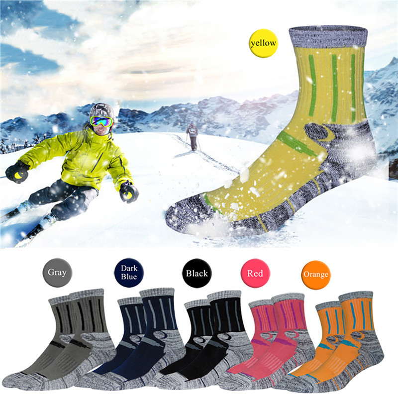 Outdoor Sports Mountaineering Skiing Socks Men Male Professional Breathable Cotton Socks for Travel Hiking Climbing Running ...