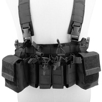 Tactical Vest Easy Chest Rig Vest Tactical Combat Recon Vest with Magazine Pouch Airsoft Multi functional Hunting Paintball Vest