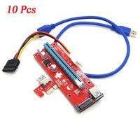 Mosunx Bitcoin Mining Machine 10x USB 3 0 PCI E Express 1x To16x Extender Riser Board