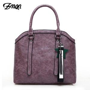 Image 2 - Zmqn bolsas de mão feminina saco 3 conjuntos 2020 combinação do vintage bolsa crossbody para as mulheres couro do plutônio bolsa senhora feminina c653